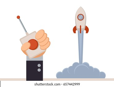 Illustration vector graphic of start up business