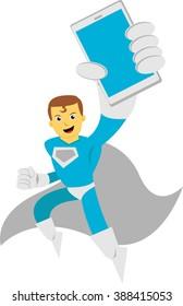 Illustration vector graphic of super hero