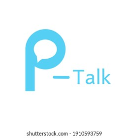 Illustration vector graphic of talk logo with alphabet letter p isolated on white background. Good for your logo, symbol, sign, brand, identity, etc.