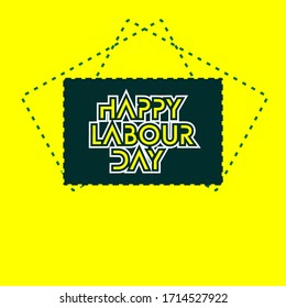 "illustration vector graphic text "" happy labour day "" to celebrate the labour day that  be held on MAY 01 every year"