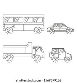 Illustration vector graphic of transportation vehicle for children coloring book
