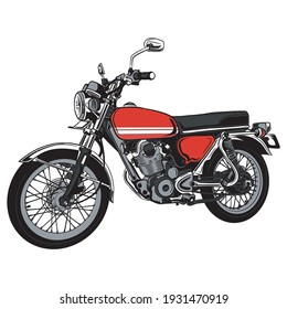 illustration vector graphic of vintage motocycle