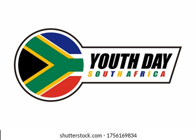 illustration vector graphic of Youth Day South Africa with flag logo design