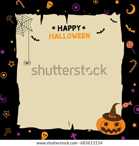 illustration vector happy halloween party template stock vector