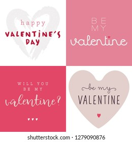 Illustration Vector Happy Valentine, Package of Happy Valentines Day