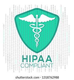Illustration Vector: HIPAA Compliant