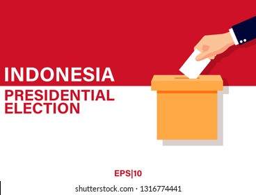 Illustration vector: Indonesia Presidential Election