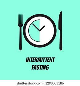 Illustration Vector: Intermittent fasting