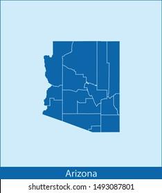 illustration vector map of Arizona