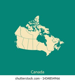 illustration vector map of Canada