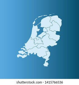 illustration vector map of Netherlands