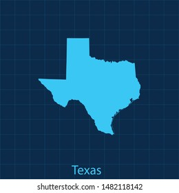 illustration vector map of Texas