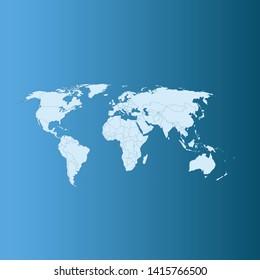 illustration vector map of world