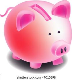 a illustration, vector for piggy bank