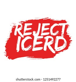 Illustration Vector: Reject ICERD (International Convention on the Elimination of All Forms of Racial Discrimination)