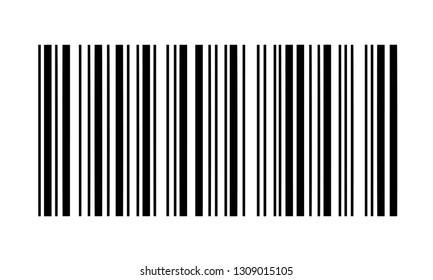 Illustration Vector Simple Fake Bar Code