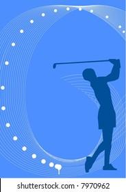 illustration, vector for a sport game background, golf