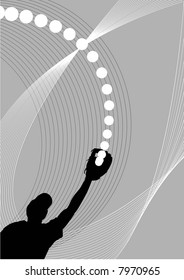 illustration, vector for a sport game background, baseball