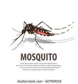 illustration vector. Target on mosquito. Mosquitoes carry many disease such as dengue fever, zika disease,enchaphalitits and else.