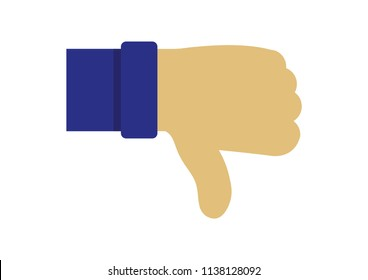 Illustration vector of Thumbs down icon