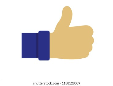 Illustration vector of thumbs up icon