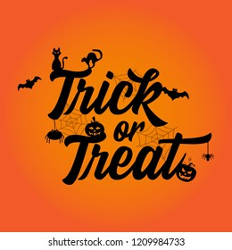 Illustration vector: Trick or treat Halloween party