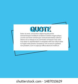 Illustration vector: typography design. Quote text box poster template concept. Bubble dialogue banner.