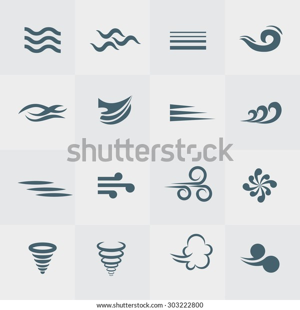 Illustration vector of wind icon collection
