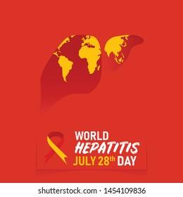 Illustration Vector: World Hepatitis Day.