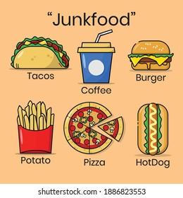 Illustration Vectro Graphics Of JunkFood