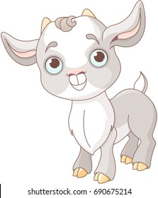Illustration of very cute goat