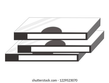 Illustration of video tapes