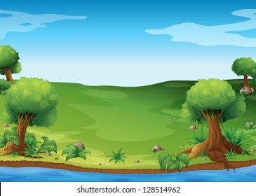 Illustration of the view of the hills