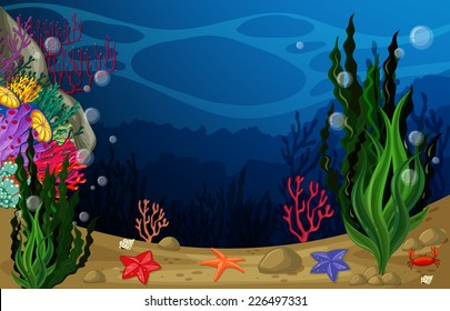 illustration of a view underwater