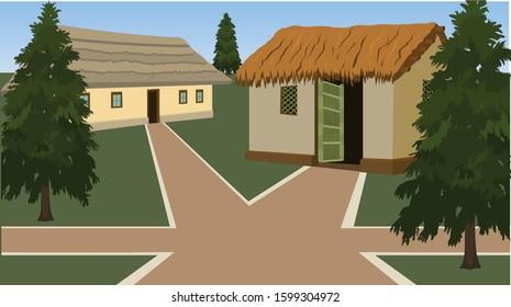 Illustration of village house vector