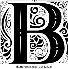 Illustration of a Vintage Monogram Featuring the Letter B