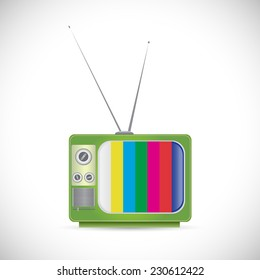 Illustration of a vintage tv isolated on a white background.