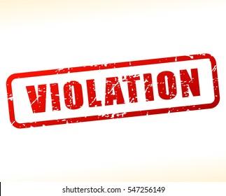 Illustration of violation text