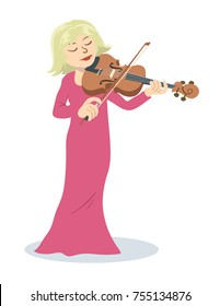 illustration of violinist