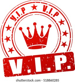 Illustration of vip stamp icon on white background