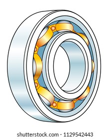 Illustration of the volumetric ball bearing design