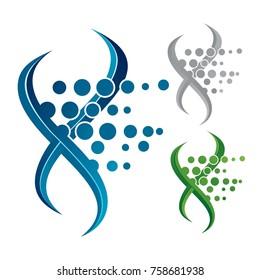 Illustration of a voluminous DNA icon.
