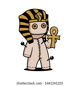 illustration voodoo pharaoh cute doll