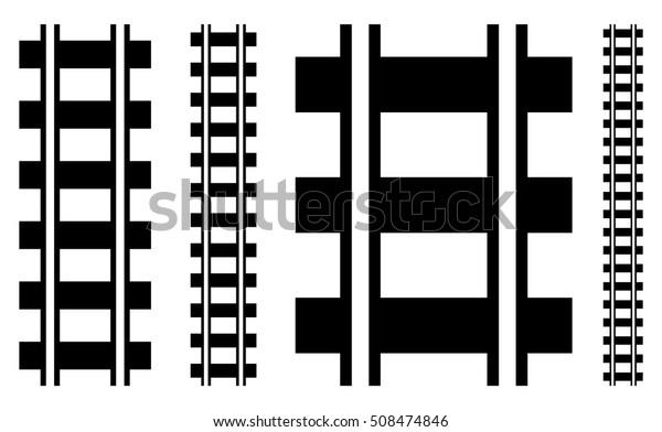 Illustration W Railway Track Rail Road Stock Vector (Royalty Free