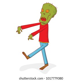 illustration of a walking zombie