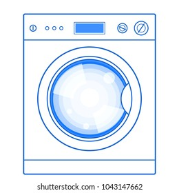 Illustration of the washing machine
