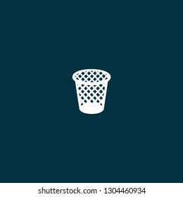 illustration wastebasket vector on blue background