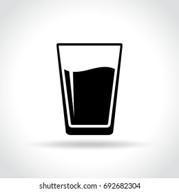 Illustration of water glass icon on white background