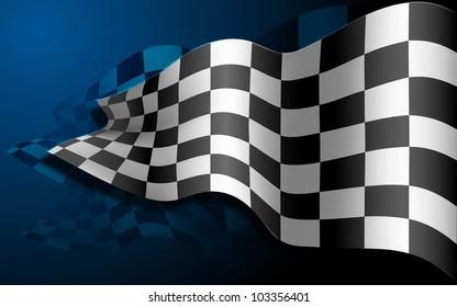 illustration of waving formula one race flag