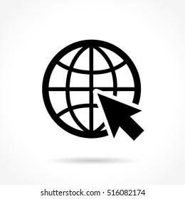 Illustration of web icon on white background